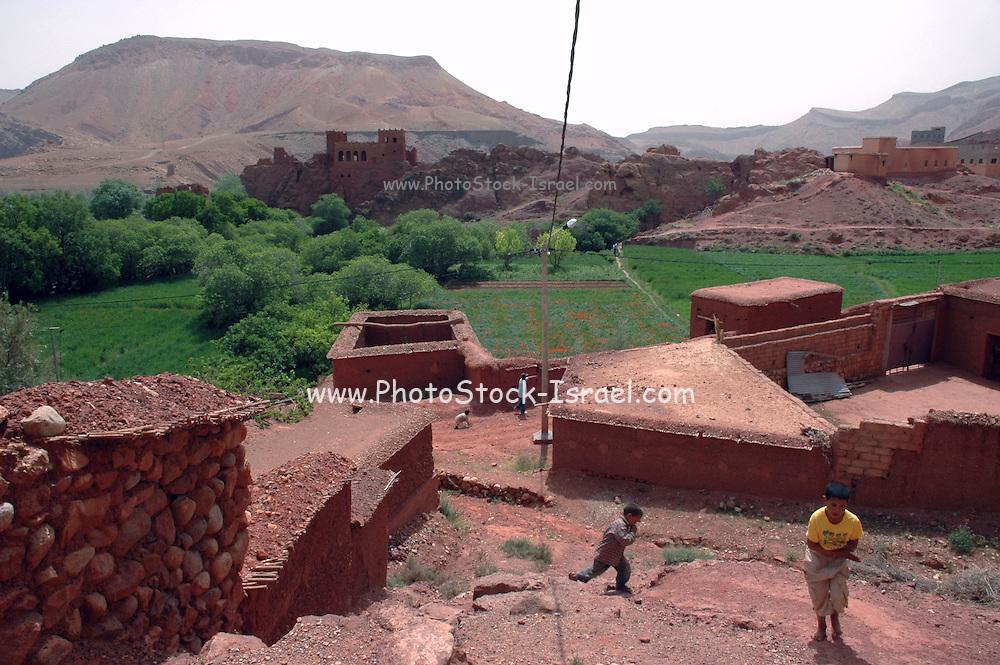 Morocco, A village in the high Atlas Mountains