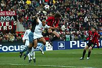 Milan 08-03-2005<br />Champions League 2004-2005<br />Milan Manchester United<br />nella  foto Silvestre  Crespo<br />Foto Snapshot / Graffiti
