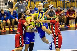 Ziga Mlakar of RK Celje Pivovarna Lasko and Kristian Beciri of RK Celje Pivovarna Lasko during the handball match between RK Celje Pivovarna Lasko (SLO) and Prvo Plinarsko drustvo Zagreb (CRO) in 1st round, group B of EHF Champions League 2016/17 on September 24, 2016 in Arena Zlatorog, Celje, Slovenia. Photo by Ziga Zupan / Sportida