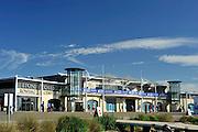 Eton. Great Britain.  General Views, GV's.  Front Eton Boathouse. 2011 FISA Junior  World Rowing Championships. Dorney Lake, Nr Windsor. Monday, 01/08/2011 [Mandatory credit: Peter Spurrier Intersport Images]
