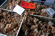 Dried mushrooms for sale at a shop at Lugu Lake, Yunnan, China.