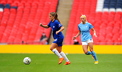 Chloe Kelly of Manchester City Women chases down Melanie Leupolz of Chelsea Women- Mandatory by-line: Nizaam Jones/JMP - 29/08/2020 - FOOTBALL - Wembley Stadium - London, England - Chelsea v Manchester City - FA Women's Community Shield