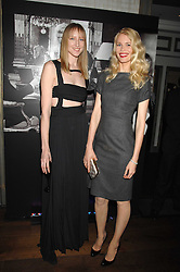 Left to right, JADE PARFITT and CLAUDIA SCHIFFER at a party to launch the Dom Perignon OEotheque 1995 held at The Landau, Portland Place, London W1 on 26th February 2008.<br />