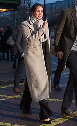 Meghan Markle waves to the crowd as she after a visit to youth-orientated radio station, Reprezent FM, in Brixton, south London to learn about its work supporting young people.