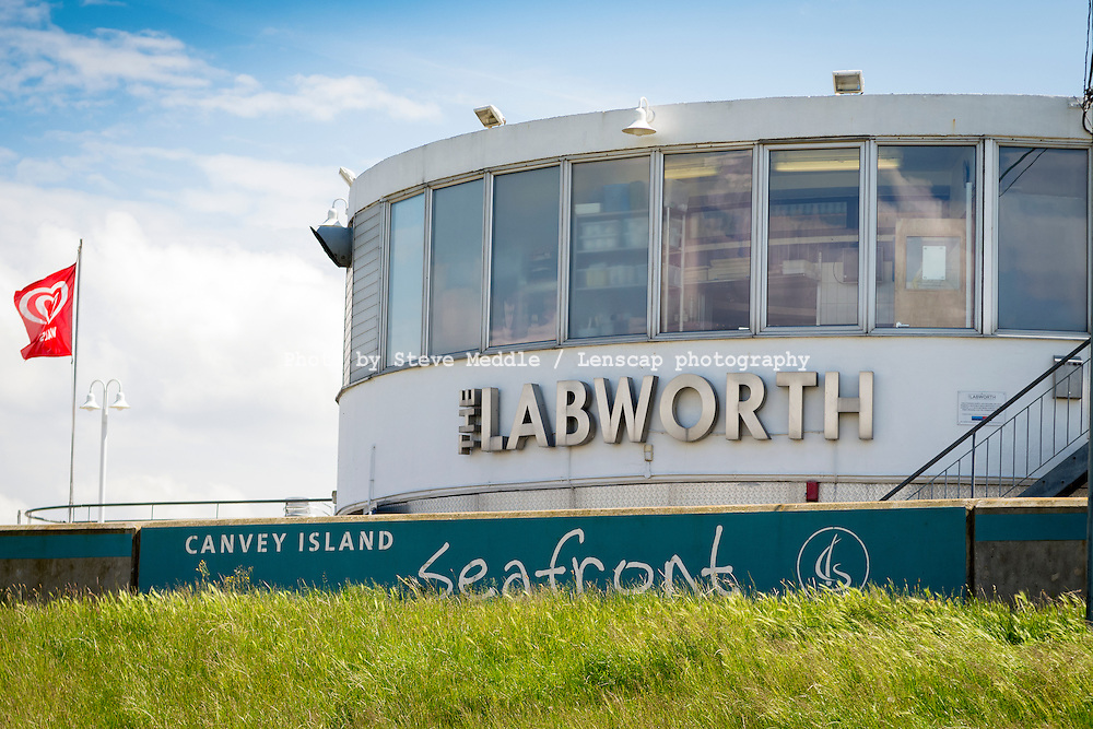 The Labworth Cafe, Western Esplanade, Canvey Island, Essex, Britain - June 2014.<br /> <br />  modernist style building, built in 1932–1933 by Ove Arup.