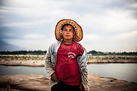 A portrait of a construction worker in Vientiane, Laos.