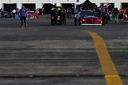 July 13, 2018 - Sparta, Kentucky, United States of America - The car of William Byron (24) sits in the garage before qualifying for the Quaker State 400 at Kentucky Speedway in Sparta, Kentucky. (Credit Image: © Chris Owens Asp Inc/ASP via ZUMA Wire)