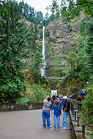 Multnomah Falls, Columbia River Gorge, Oregon, USA, 200809010803.<br /> <br /> Copyright Image from Victor Patterson, Belfast, UK<br /> <br /> t: +44 28 9066 1296 (from Rep of Ireland 048 9066 1296)<br /> m: +44 7802 353836<br /> <br /> victorpattersonbelfast@gmail.com<br /> <br /> www.victorpatterson.com OR <br /> www.images4media.com<br /> <br /> Please see my Terms and Conditions of Use at https://www.victorpatterson.com/page2<br /> It is IMPORTANT that you familiarise yourself with them.<br /> <br /> Images used on the Internet incur an additional cost and must be visibly watermarked i.e. © Victor Patterson within the body of the image and copyright metadata must not be deleted. Images used on the Internet have a size restriction of 4 kbs and are chargeable at rates available at victorpatterson.com.<br /> <br /> This image is only available for the use of the download recipient i.e. television station, newspaper, magazine, book publisher, etc, and must not be passed on to any third party. It is also downloaded on condition that each and every usage is notified within 7 days to victorpattersonbelfast@gmail.com.<br /> <br /> The right of Victor Patterson to be identified as the author is asserted in accordance with The Copyright Designs And Patents Act (1988). All moral rights are asserted.