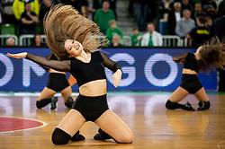 Green Ladies perform during basketball match between teams KK Cedevita Olimpija and Germani Brescia in Round #7 of EuroCup 2019/20, on November 19, 2019, in Arena Stozice, Ljubljana, Slovenia. Photo by Vid Ponikvar / Sportida