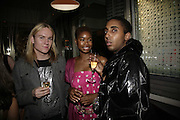Sean Read, Talula Adeyemi and Molaroid Soloman, Natalia Vodianova and Elle Macpherson host a dinner in honor of Francisco Costa (creative Director for women) and Italo Zucchelli (creative director for men)  of Calvin Klein. Locanda Locatelli, 8 Seymour St. London W1. ONE TIME USE ONLY - DO NOT ARCHIVE  © Copyright Photograph by Dafydd Jones 66 Stockwell Park Rd. London SW9 0DA Tel 020 7733 0108 www.dafjones.com