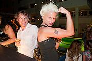 EVAN RUSTER; LORI CHEEK, Jay Jopling hosts a party at Soho House. Miami Beach. Miami art Basel. 30 November 2010. -DO NOT ARCHIVE-© Copyright Photograph by Dafydd Jones. 248 Clapham Rd. London SW9 0PZ. Tel 0207 820 0771. www.dafjones.com.