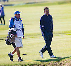 Andriy Shevchenko. Players art the 18th, Alfred Dunhill Links Championship at the Championship Course at Carnoustie.