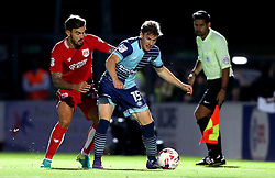 Dayle Southwell of Wycombe Wanderers holds off Marlon Pack of Bristol City - Mandatory by-line: Robbie Stephenson/JMP - 09/08/2016 - FOOTBALL - Adams Park - High Wycombe, England - Wycombe Wanderers v Bristol City - EFL League Cup