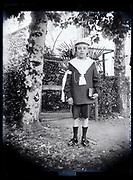 boy holy communion portrait France 1923