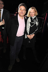 TOM GOLDSTAUB and his wife JANE PROCTER at a party to celebrate the publication of Cloak & Dagger Butterfly by Amanda Eliasch held at the Soho Revue Bar, London on 17th November 2008.
