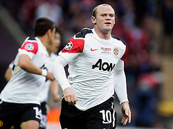28.05.2011, Wembley Stadium, London, ENG, UEFA CHAMPIONSLEAGUE FINALE 2011, FC Barcelona (ESP) vs Manchester United (ENG), im Bild Wayne Rooney of Manchester Utd makes 1-1 and celebrates sliding on his knees   during  the UEFA  Champions League Final between Barcelona and Manchester United at the Wembley Stadium  in London    on 28/05/2011, EXPA Pictures © 2011, PhotoCredit: EXPA/ IPS/ M. Pozzetti *** ATTENTION *** UK AND FRANCE OUT!