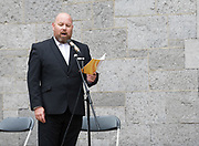 08/07/2018  repro  free:Frank Naughton  at The National Day of Commemoration Ceremony at NUI Galway in honour of all those  Irishmen and Irish Women who served in past wars or on Service with the UN.Photo:Andrew Downes, XPOSURE