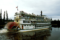 Alaska: Fairbanks.  Riverboat Discovery  III. Photo akfair101..Photo copyright Lee Foster, 510/549-2202, lee@fostertravel.com, www.fostertravel.com