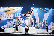 Photos of Janelle Monae performing live at Madison Square Garden, NYC. October 1, 2015. Copyright © Matthew Eisman. All Rights Reserved