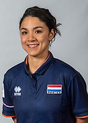 10-05-2018 NED: Team shoot Dutch volleyball team women, Arnhem<br /> Nicole Rodriguez, Krachttrainer