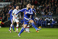 Eden Hazard of Chelsea scores his sides 4th goal from a penalty. The Emirates FA cup, 4th round match, MK Dons v Chelsea at the Stadium MK in Milton Keynes on Sunday 31st January 2016.<br /> pic by John Patrick Fletcher, Andrew Orchard sports photography.