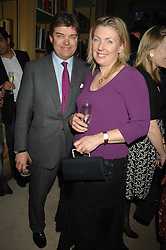 The EARL & COUNTESS OF CARNARVON at the engagement party of Vanessa Neumann and William Cash held at 16 Westbourne Terrace, London W2 on 15th April 2008.<br /><br />NON EXCLUSIVE - WORLD RIGHTS