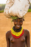 Dassanach tribe girl, Omo Valley, Ethiopia.