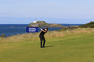 Matt Wallace (ENG) on the 4th during Round 4 of the Aberdeen Standard Investments Scottish Open 2019 at The Renaissance Club, North Berwick, Scotland on Sunday 14th July 2019.<br /> Picture:  Thos Caffrey / Golffile<br /> <br /> All photos usage must carry mandatory copyright credit (© Golffile | Thos Caffrey)
