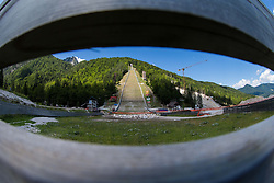 Reconstruction of ski jumping flying hill in Planica on July 25, 2013 in Planica, Slovenia. (Photo by Vid Ponikvar / Sportida.com)