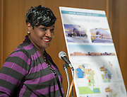 Houston ISD Trustee Wanda Adams comments during a groundbreaking ceremony at Westbury High School, February 16, 2017.