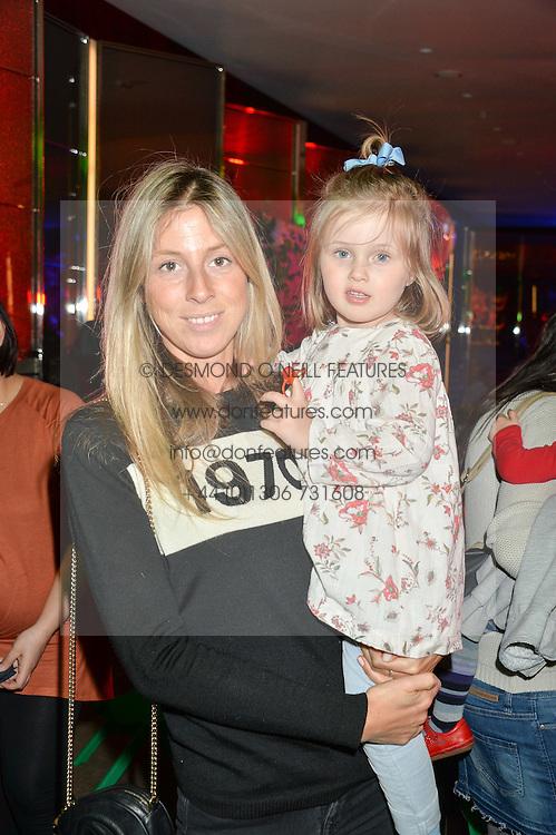 SOPHIA SACKVILLE and her daughter VIOLA SACKVILLE at Never Land Children's Party at the Bulgari Hotel, 171 Knightsbridge, London on 26th April 2016.