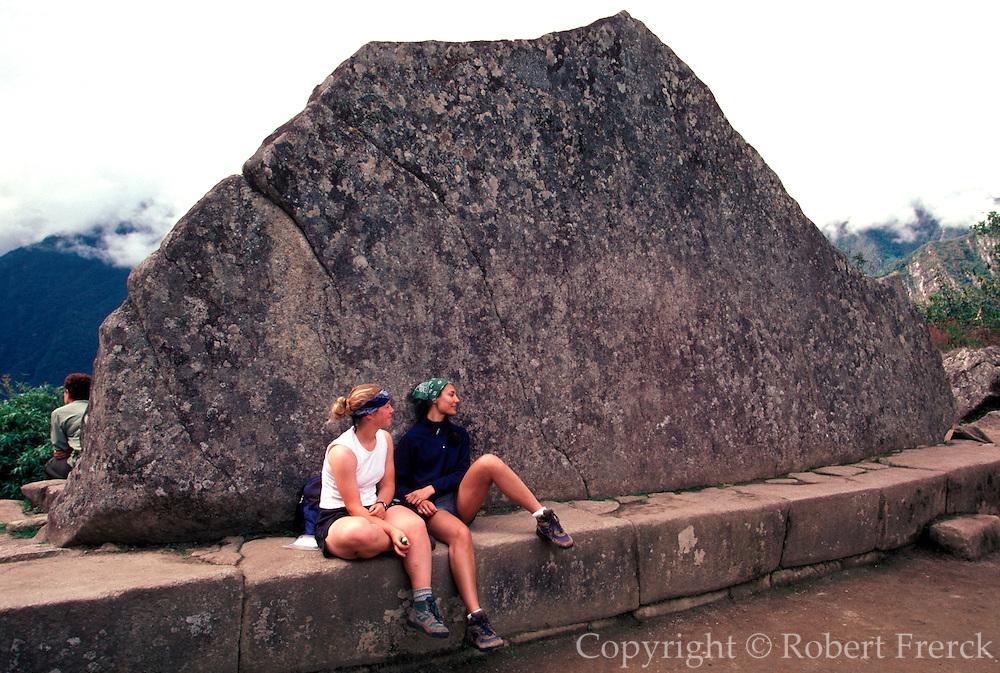 PERU, PREHISPANIC, INCA Machu Picchu; the Sacred Rock