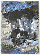 severely eroding glass plate with a family and three children posing