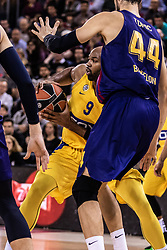 November 1, 2018 - Barcelona, Barcelona, Spain - Alex Tyus, #9 of Maccabi Fox Tel Aviv in actions during EuroLeague match between FC Barcelona Lassa and Maccabi Fox Tel Aviv  on November 01, 2018 at Palau Blaugrana, in Barcelona, Spain. (Credit Image: © AFP7 via ZUMA Wire)
