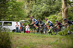 Gabrielle Pilote Fortin leads the peloton up the climb on lap one at Grand Prix de Plouay Lorient Agglomération a 121.5 km road race in Plouay, France on August 26, 2017. (Photo by Sean Robinson/Velofocus)