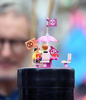 Lego Extinction Rebellion protestors  St Martin's Lane london photo by Krisztian Elek