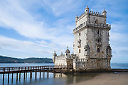 Belem Tower - the Tower of Saint Vincent is a 16th-century fortification and gateway to Lisbon, Portugal