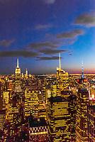Skyscrapers, Midtown Manhattan, New York, New York USA.