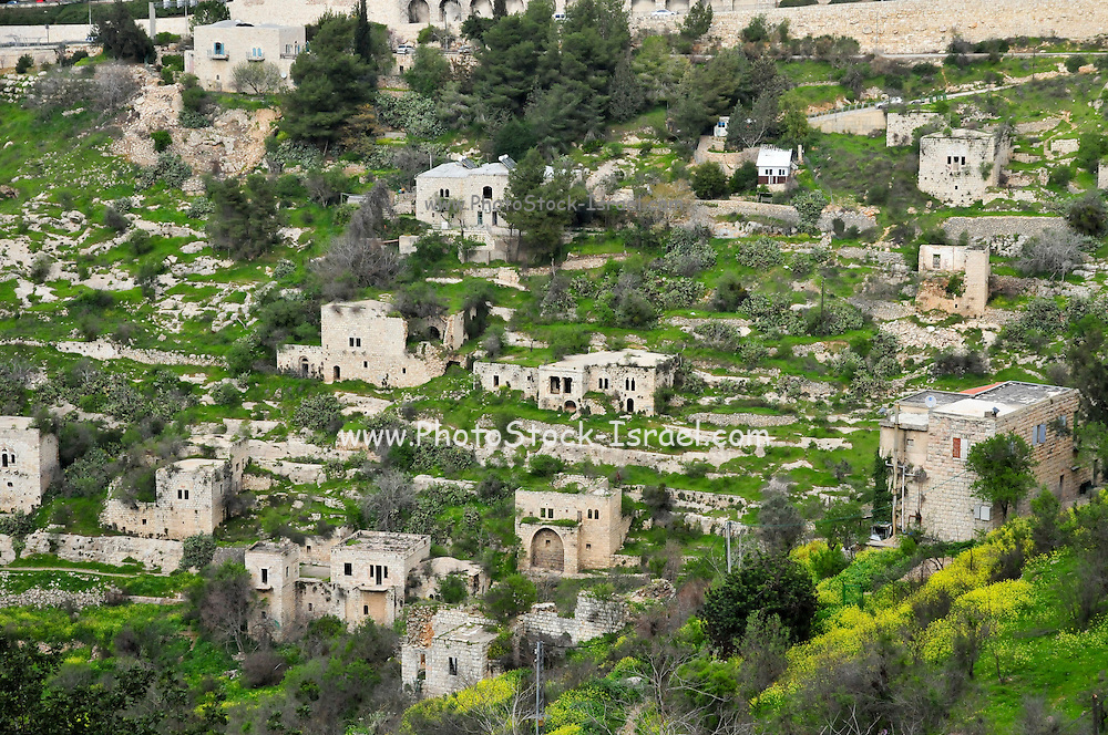 Israel, Jerusalem, Lifta, a deserted Arab village on the outskirts of Jerusalem. Its population was driven out during efforts to relieve the Siege of Jerusalem (1948). The village and spring for which it is named are now a park on the hillside between the western entrance to Jerusalem and the Romema neighbourhood.