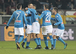 December 16, 2017 - Turin, Italy - Napoli team during Serie A match between Torino v Napoli, in Turin, on December 16, 2017  (Credit Image: © Loris Roselli/NurPhoto via ZUMA Press)