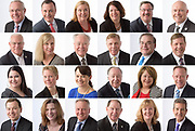 Business Headshots on a white background shot during a company annual meeting