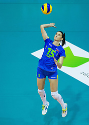 Marina Cvetanovic of Slovenia during volleyball match between National Teams of Slovenia and France in 3rd Round of 2015 CEV Volleyball European Championship Women Qualifications, on May 29, 2015 in Arena Tabor, Maribor, Slovenia.