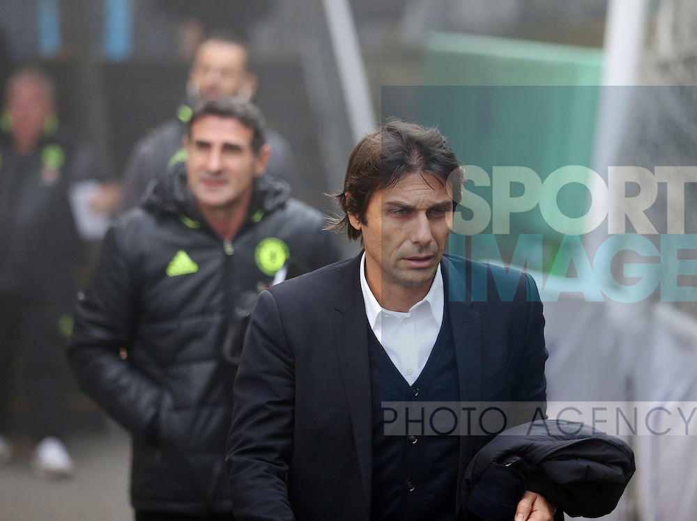 Chelsea's Antonio Conte arrives for the match during the Premier League match at Selhurst Park Stadium, London. Picture date December 17th, 2016 Pic David Klein/Sportimage