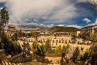 High angle view of Guishan Park Shangri La (Zhongdian), Yunnan Province, China.