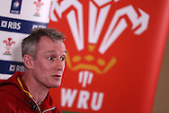 Wales coach Robert Howley  speaks to the media at the Wales Rugby team announcement press conference at the Vale Resort, Hensol near Cardiff, South Wales on Thursday 2nd Feb 2017.  The team are preparing for the the RBS Six nations match against Italy.  pic by  Andrew Orchard, Andrew Orchard sports photography.