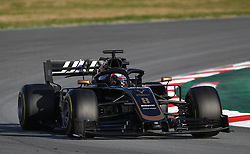 Haas Romain Grosjean during day one of pre-season testing at the Circuit de Barcelona-Catalunya.