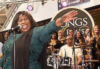 Ruby Turner Performs with Songs Of Praise for BBC Music Day in Birmingham. PR and Press photographer for BBC Birmingham