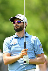 May 4, 2019 - Charlotte, NC, U.S. - CHARLOTTE, NC - MAY 04: Adam Hadwin follows the ball after his shot from the13th tee in round three of the Wells Fargo Championship on May 04, 2019 at Quail Hollow Club in Charlotte,NC. (Photo by Dannie Walls/Icon Sportswire) (Credit Image: © Dannie Walls/Icon SMI via ZUMA Press)