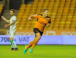 David Edwards of Wolverhampton Wanderers celebrates his goal- Mandatory by-line: Nizaam Jones/JMP - 01/10/2016/ - FOOTBALL - Molineux - Wolverhampton, England - Wolverhampton Wanderers v Norwich City - Sky Bet Championship