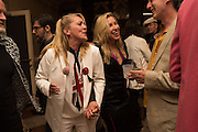 VANESSA FRISTEDT; SWEDISH BLONDE; MAYA HIRSTSarah Lucas- Scream Daddio party hosted by Sadie Coles HQ and Gladstone Gallery at Palazzo Zeno. Venice. 6 May 2015.